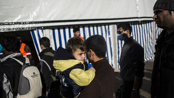 Nearly 170,000 migrants have crossed Slovenia since mid-October when Hungary closed its border with Croatia (AP)