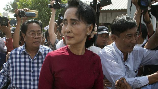 Aung San Suu Kyi's party is on the verge of victory (AP)