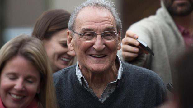 Vincent Asaro leaves Brooklyn federal court after being acquitted of charges he helped plan a legendary 1978 Lufthansa heist (AP)