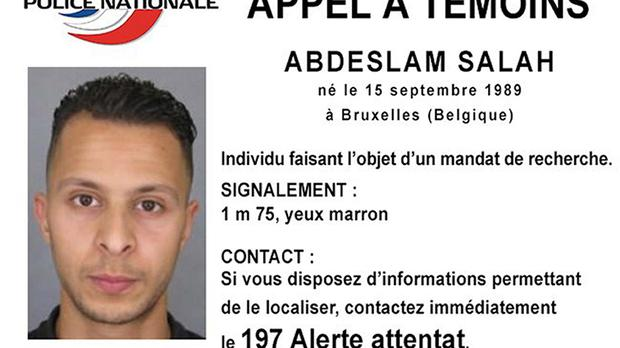 Police Nationale wanted notice of Salah Abdeslam