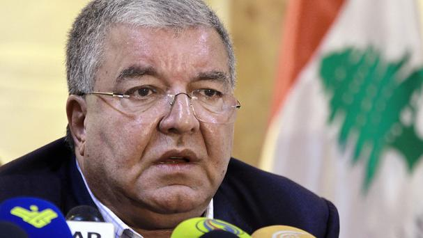 Lebanese interior minister Nohad Machnouk said seven Syrians and two Lebanese were detained
