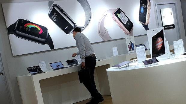 Until now, Apple only had authorised premium resellers' outlets in Singapore (AP)