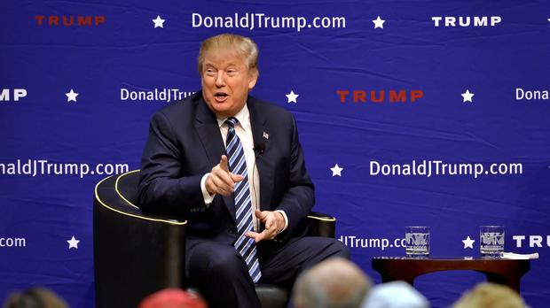 Donald Trump's support for a Muslim database in the US drew sharp criticism (AP)