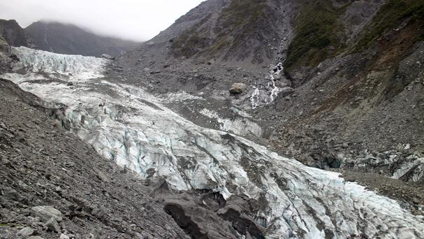Fox Glacier on New Zealand's South Island, where the helicopter crashed