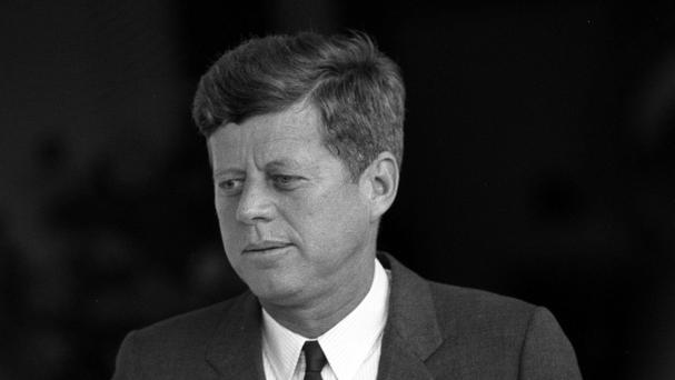 The film shows the shooting of President Kennedy