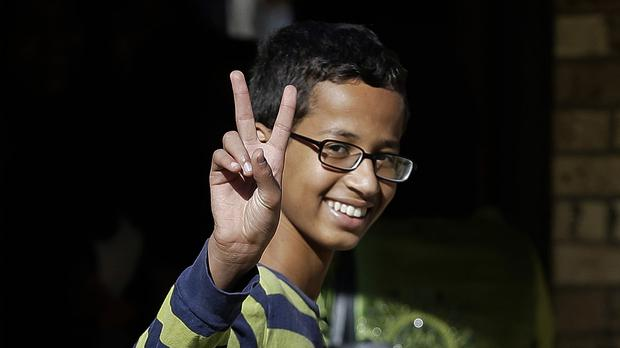 Ahmed Mohamed, 14, pictured in Irving, Texas (AP)