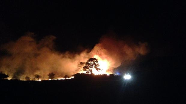 The wildfire has scorched 85,000 hectares of farm and woodland