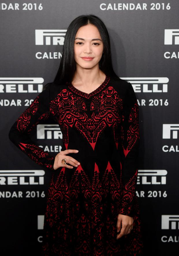 Yao Chen attends a Photocall to launch the 2016 Pirelli Calendar by Annie Leibovitz at Grosvenor House