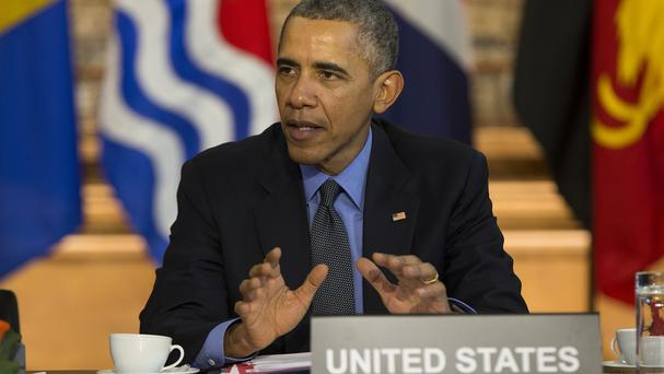 Barack Obama speaks during a meeting with heads of state from small island nations most at risk from the harmful effects of climate change (AP)