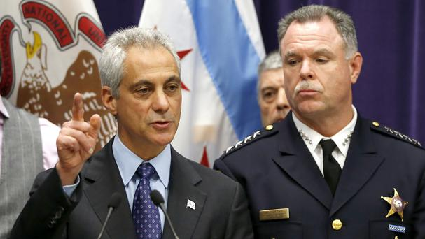 Chicago mayor Rahm Emanuel (left)