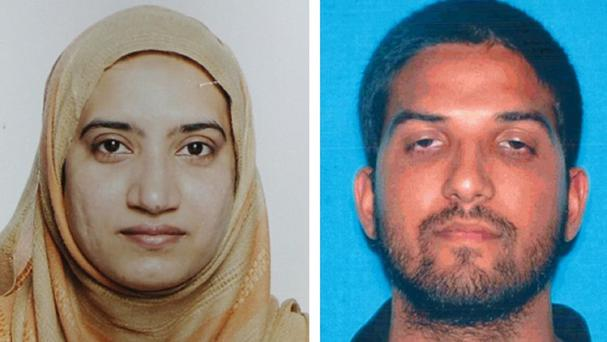 Tashfeen Malik died alongside Syed Farook in a fierce gun battle with authorities several hours after the attack Credit: FBI/California Department of Motor Vehicles (AP)