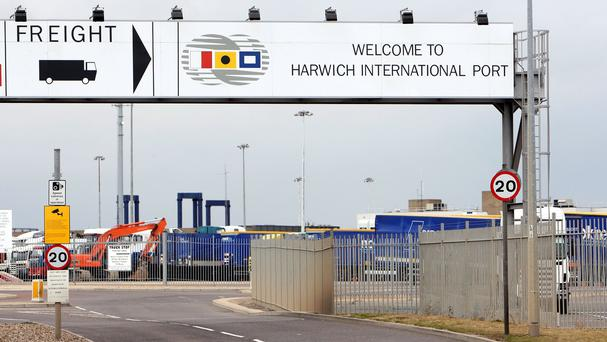 The lorry was bound for Harwich port in Essex