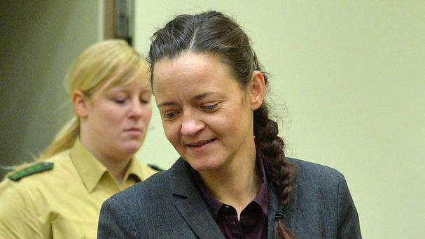 Beate Zschaepe is accused of being involved in 10 neo-Nazi murders. (AP)