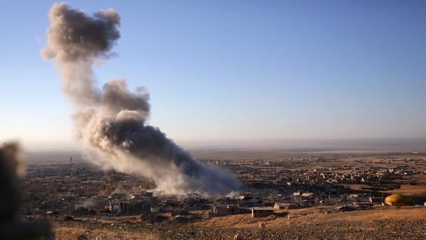 US air strikes in Iraq and Syria (AP)