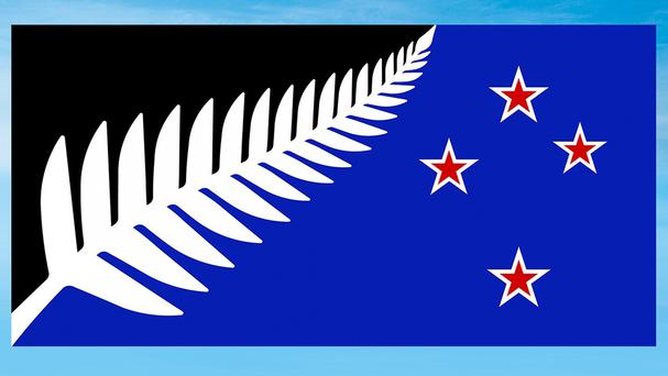 The winning flag design, Silver Fern, will now go up against New Zealand's current flag in a national vote (New Zealand Government/AP)