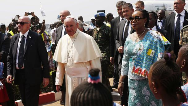 The move comes just two weeks after Pope Francis visited the Central African Republic and called for reconciliation among Muslim and Christian militias (AP)