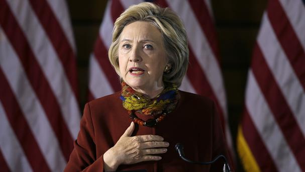 Hillary Clinton has set out her anti-terrorism strategy (AP)