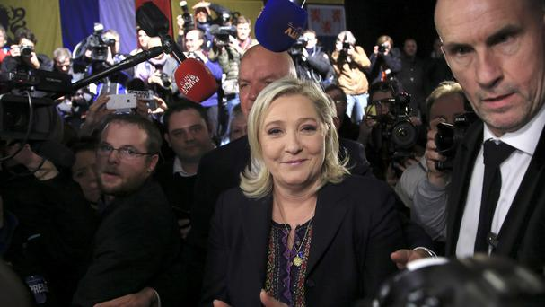 Marine Le Pen has tweeted pictures of Islamic State executions (AP)