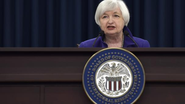 US Federal Reserve chairwoman Janet Yellen speaks during a news conference in Washington (AP)