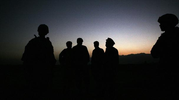 US Army soldiers in a patrol of Qalanderkhail, outside Bagram Air Field in Afghanistan (AP)