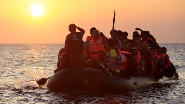 Many migrants crossed into Europe by sea