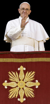 Call for balance: Pope Francis delivers his 'Urbi et Orbi' blessing from the central balcony of St Peter's Basilica at the Vatican on Christmas Day Photo: AP Photo/Gregorio Borgia