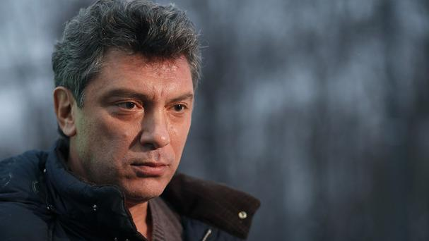 Boris Nemtsov was shot late at night on February 27 as he was walking just outside the Kremlin (AP)
