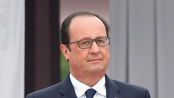 Francois Hollande urged France to embrace 'courage and hope'