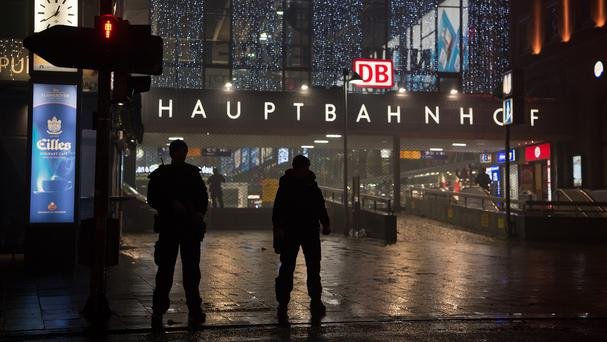 Special police guard Munich's main railway station after a warning of an 'imminent threat' of a terror attack (dpa/AP)