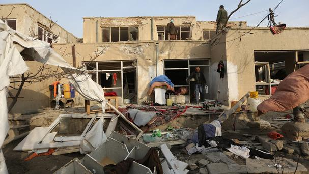 The aftermath of the suicide attack at Le Jardin restaurant (AP)