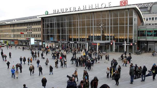 The square in front of the main station in Cologne, Germany (AP)