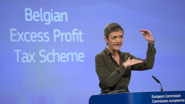 Margrethe Vestager said the tax advantage given to a select group of mainly European companies