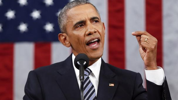 President Barack Obama delivers his final State of the Union address to Congress (AP)