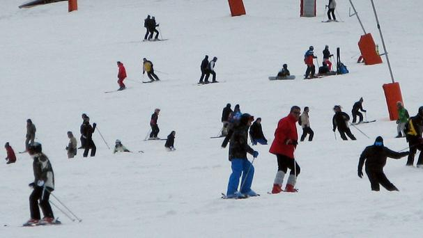 The avalanche has struck a school group skiing in the French Alps
