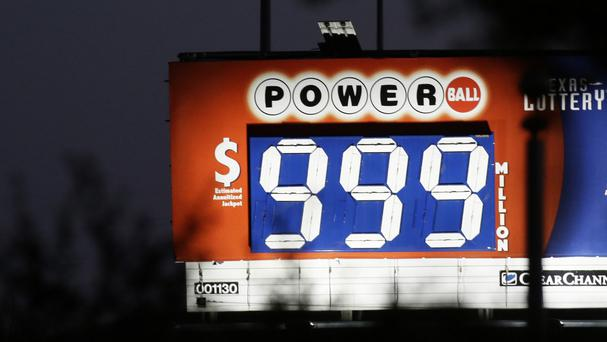 The 1.5 billion-dollar Powerball lottery was so large official signs were unable to advertise it (AP)