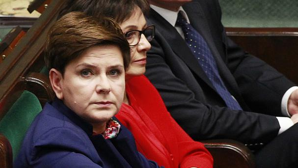 Beata Szydlo says she does not believe the EU will impose sanctions on Poland. (AP)