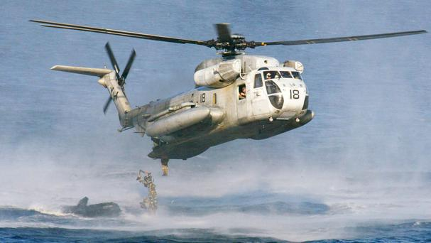 A US Marines CH-53D Sea Stallion helicopter (AP)