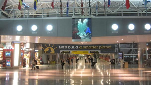 Biometric readers will be used to match a person's face to their passport at JFK Airport in New York