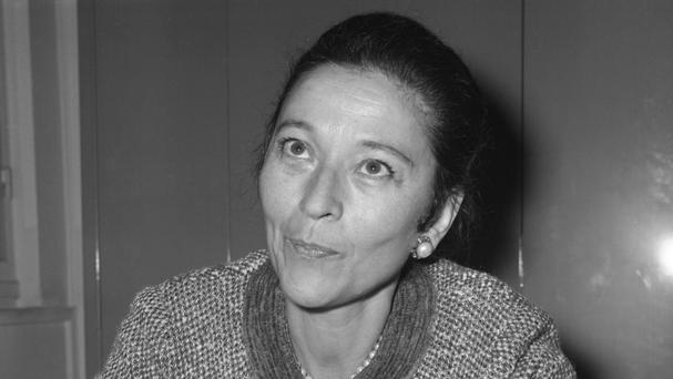 French author Edmonde Charles-Roux, who has died aged 95 (AP)