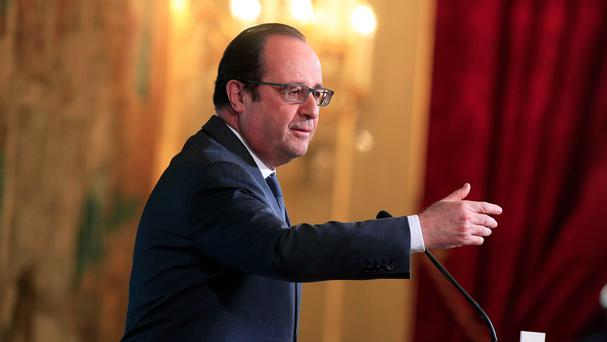 French president Francois Hollande said the allied strategy against IS