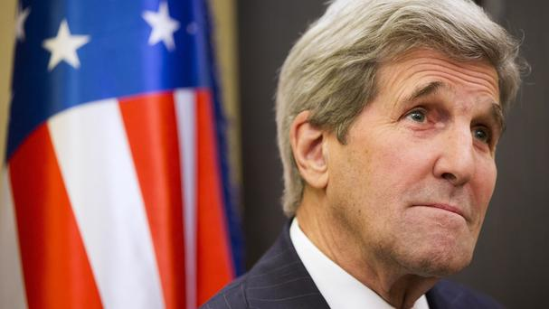 US secretary of state John Kerry at the World Economic Forum in Davos, Switzerland (AP)