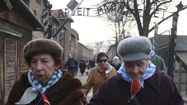 Holocaust survivors attend ceremonies commemorating the people killed at Auschwitz in Poland (AP)