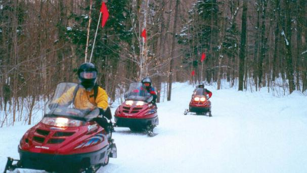 Several groups were on snowmobiles when the avalanche happened