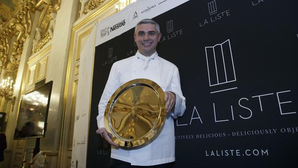 Benoit Violier at his restaurant Hotel de Ville in Crissier, Switzerland (AP)