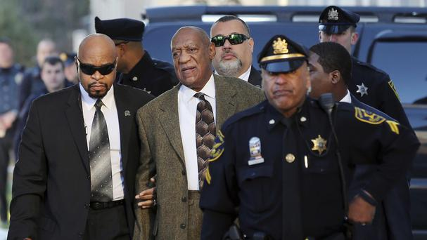 Bill Cosby arrives at court. (AP)