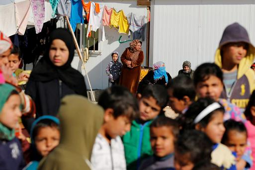 Syrian refugee children at the Al Zaatari refugee camp in the Jordanian city of Mafraq. Photo: Reuters