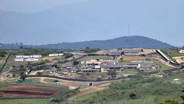 The private compound of South African President Jacob Zuma. (AP)