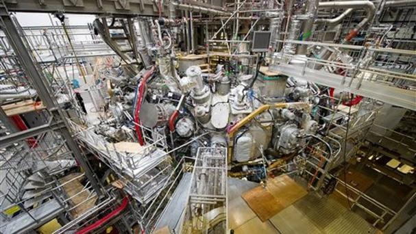 The nuclear fusion research center at the Max Planck Institute for Plasma Physics. (Stefan Sauer/dpa via AP)