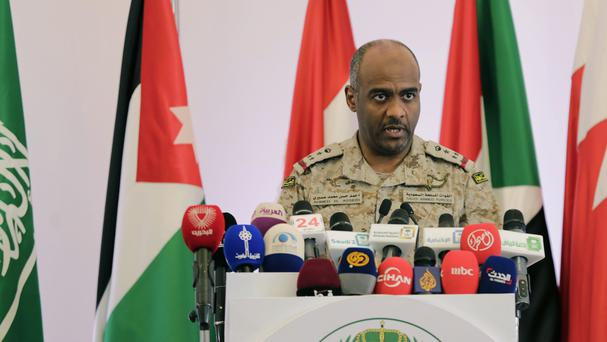 Brigadier General Ahmed Asiri said Saudi Arabia would commit ground troops to Syria