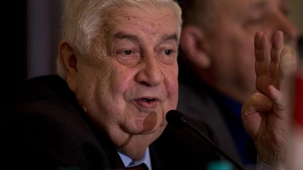 The Syrian foreign minister spoke out after attempts to set up peace talks broke down (AP)